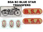 BSA B3 Transfers and Decals Sets